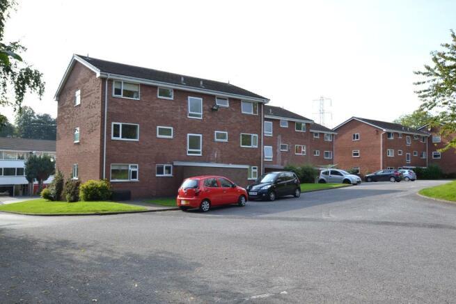 Rear of apartment block