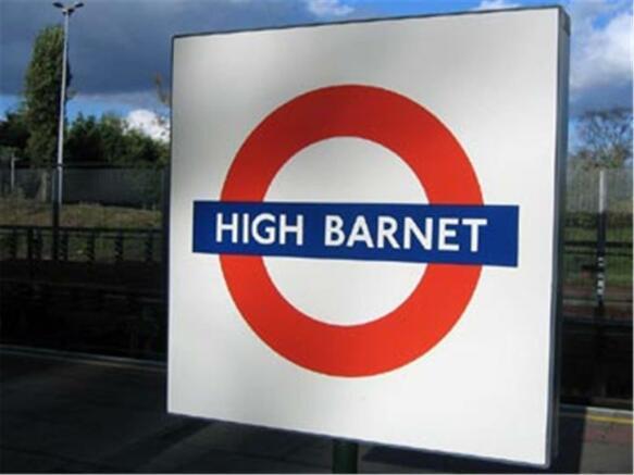 High Barnet tube sign