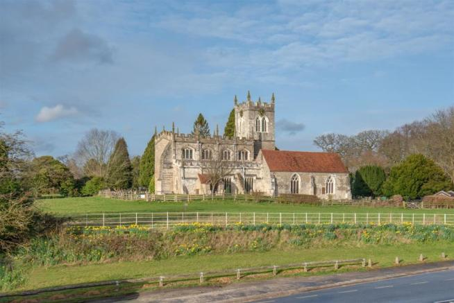 Ols Saxon Church over Road