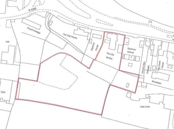 Site Plan with the paddock.