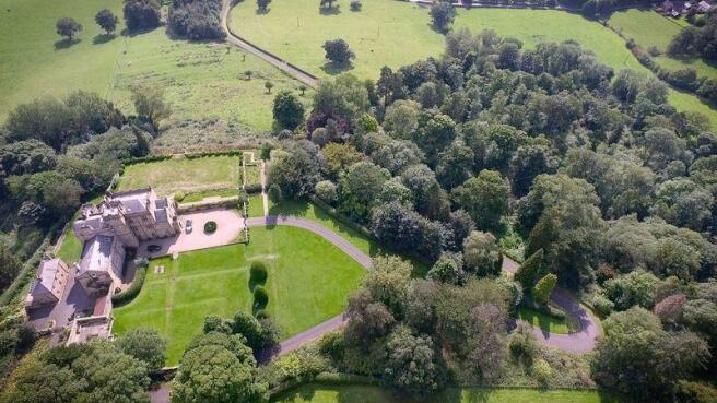 aerial castle view