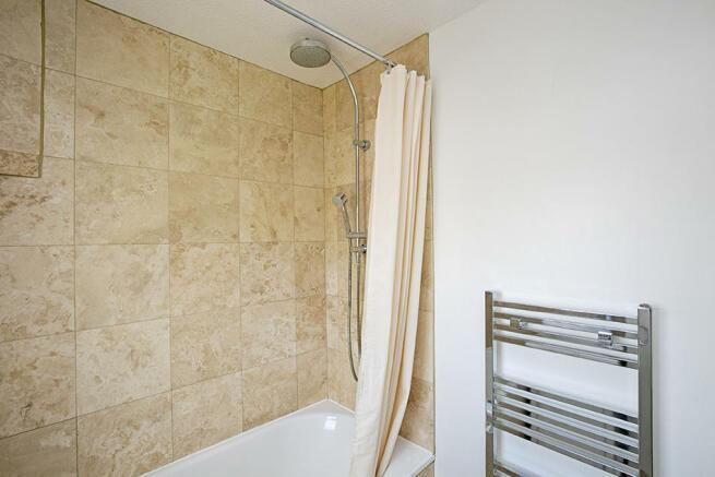 Shower in bathroom