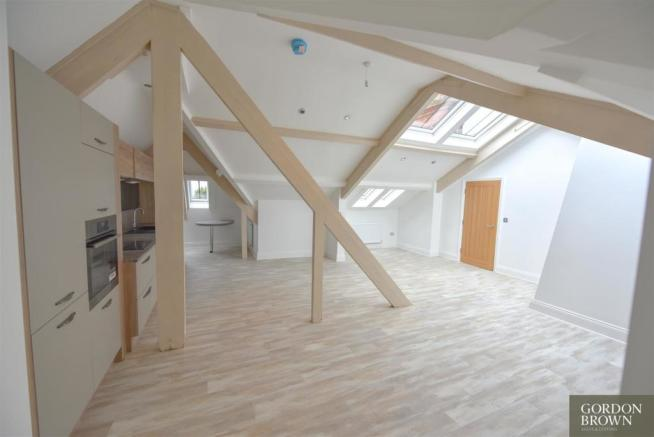 Open Plan Lounge with Kitchen