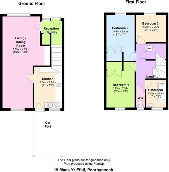 19 Maes Yr Efail, Penrhyncoch floor plan.JPG