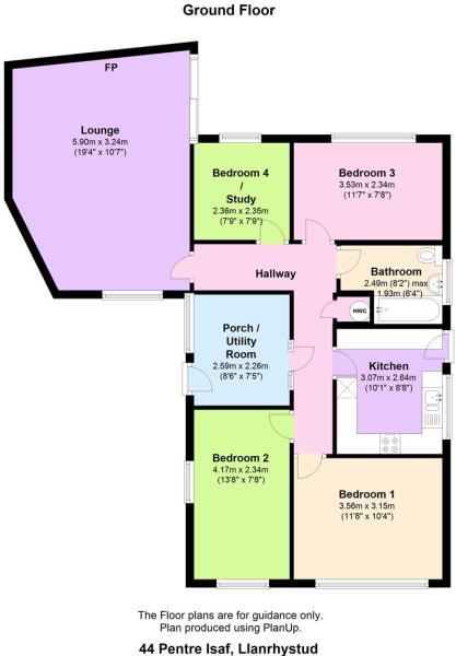 44 Pentre Isaf, Llanrhystud floor plan.JPG