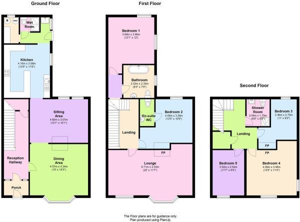 Swn y mor, Borth floor plan.JPG