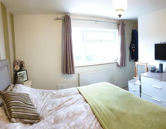 Bedroom, rear facing
