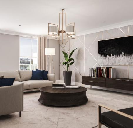 Two Bedroom Apartments - Living Room