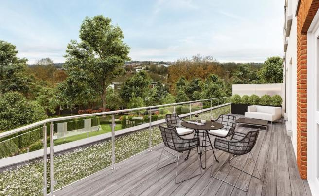 Two Bedroom Apartments - Balcony