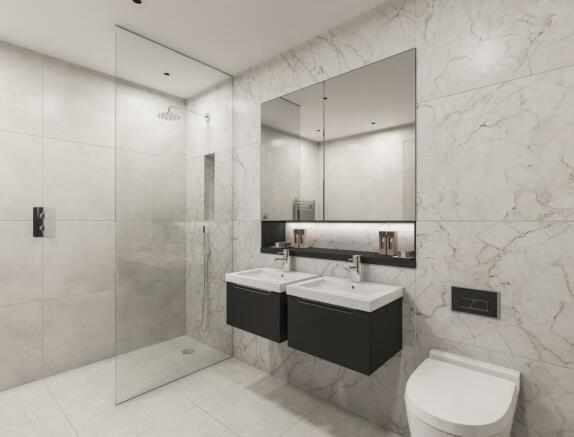 Two Bedroom Apartments - Bathroom