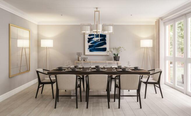 Three Bedroom Apartments - Dining Room