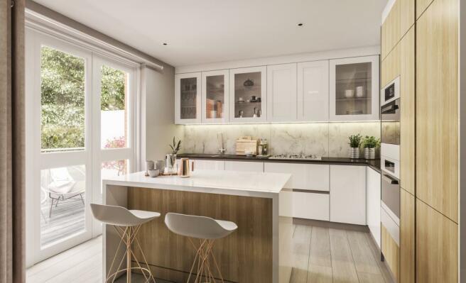 Three Bedroom Apartments - Kitchen