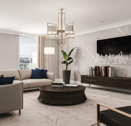 Three Bedroom Apartments - Living Room
