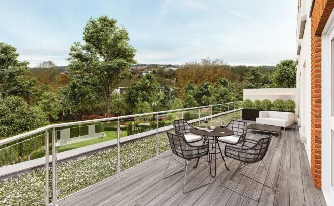 Three Bedroom Apartments - Balcony