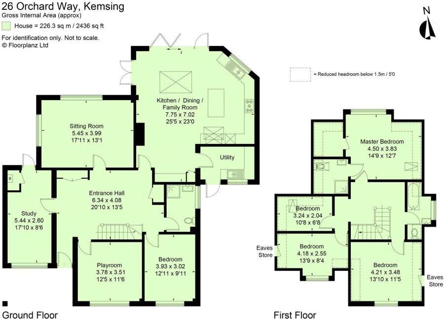 5 bedroom detached house for sale in Orchard Way Kemsing Sevenoaks – Knole House Floor Plan