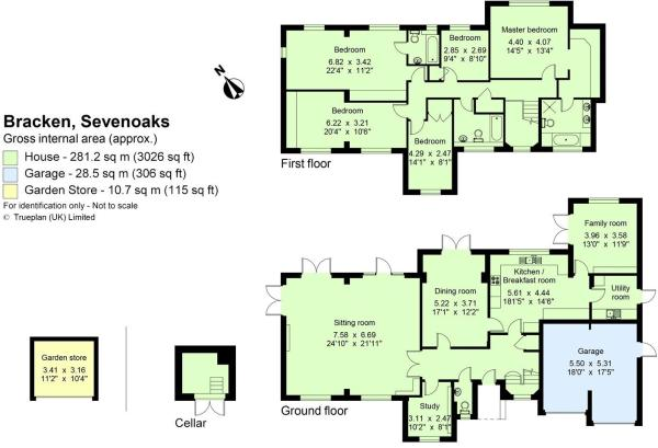 5 bedroom detached house for sale in Ashgrove Road Sevenoaks Kent – Knole House Floor Plan