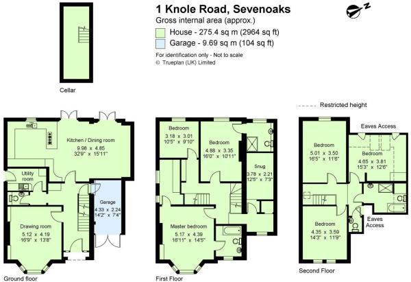 6 bedroom detached house for sale in Knole Road Sevenoaks Kent – Knole House Floor Plan