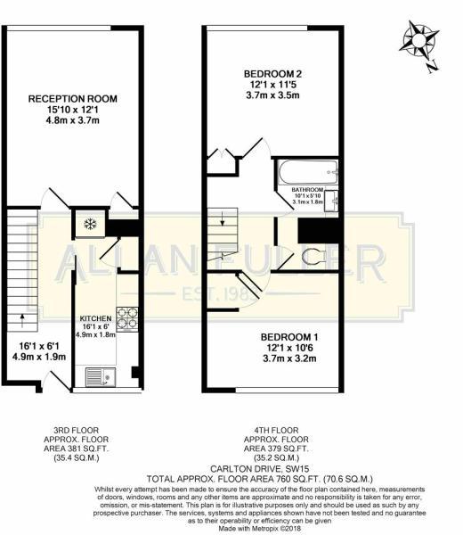 Floor Plan Carlton Drive, SW15.JPG