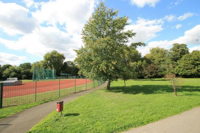 Sportsfield at rear