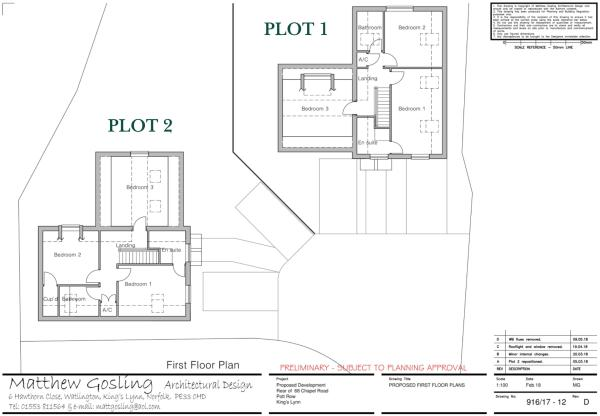 First Floor Plots...