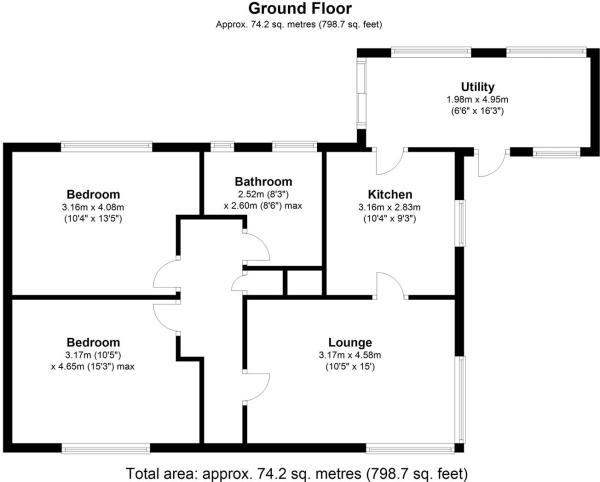 Pen Y Bryn Bungalow Denbigh - Floor 0.jpg