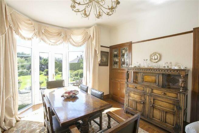 Bright Rear Dining Room