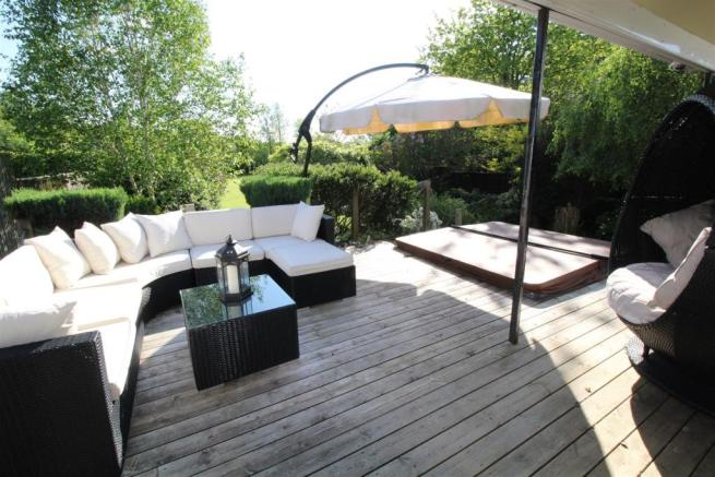 Decked sitting area
