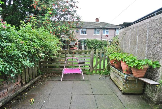 Patio Area and Lawned Garden