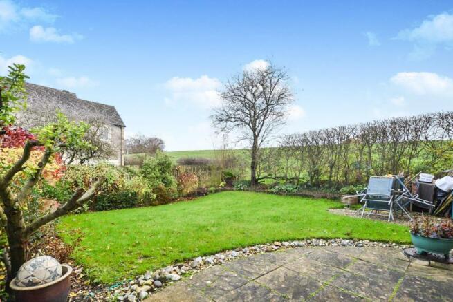 The rear garden aview