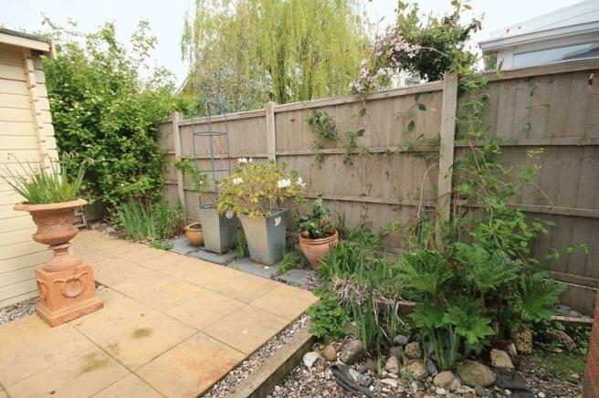 rear garden ..