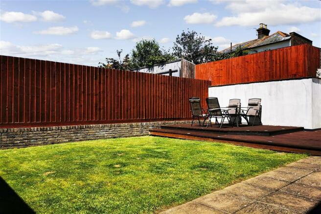 Rear Garden Decking Area