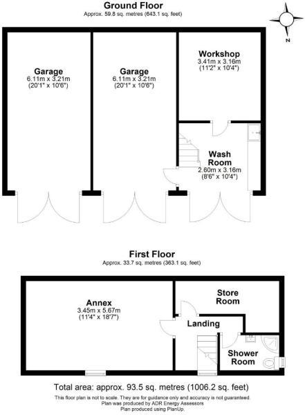 Outbuildings , 30 Northgate, Oakham, LE15 6QS - FP