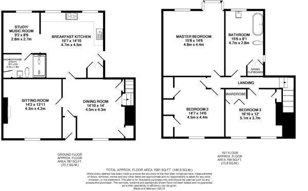 Floor Plan - 26 High Street West, Uppingham, LE15