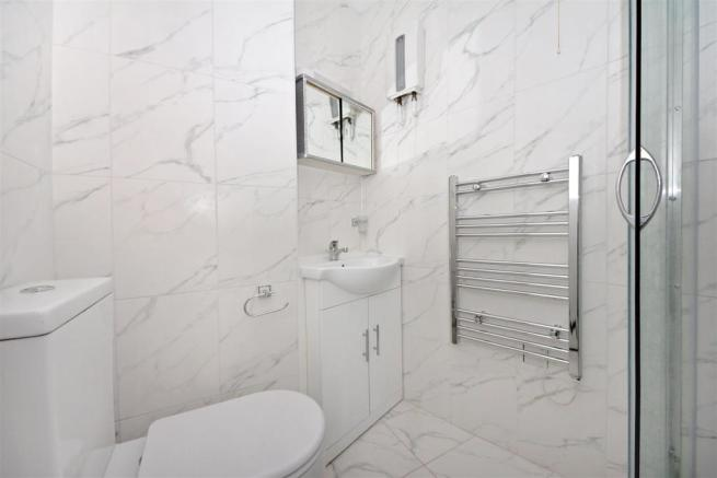 Bathroom in one of the apartments