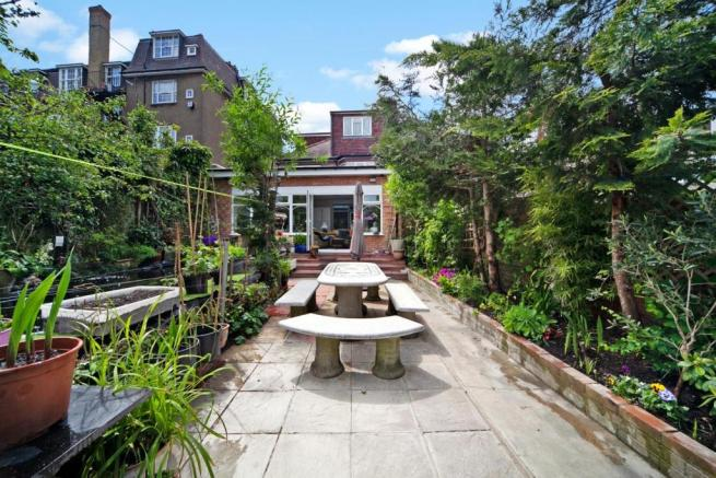 Private well maintained rear garden