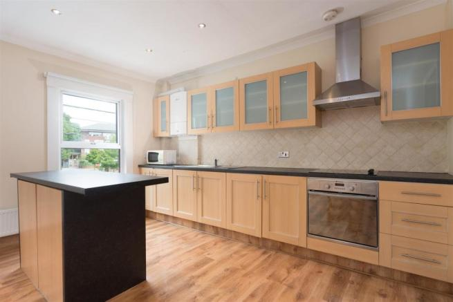 Modern fitted kitchen area