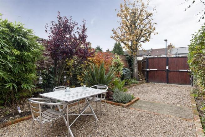 Private garden with off street parking