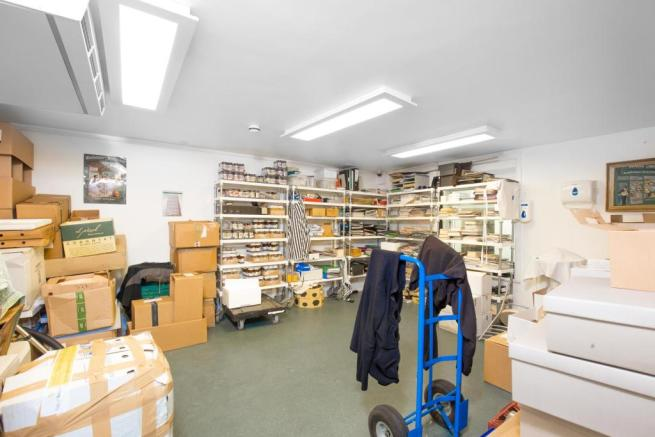 downstairs storage area