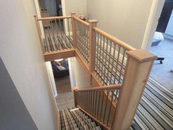 Hall stairs an...