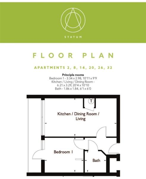 Statum Wootton Mount Floor Plan F2, 8, 14, 20, 26,