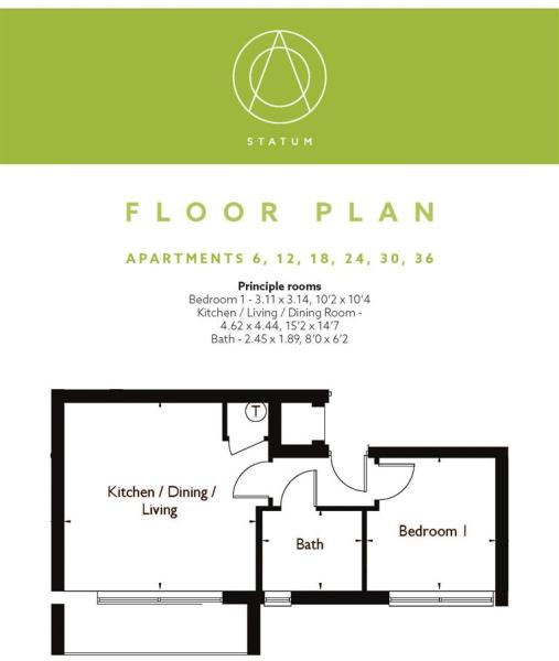 Statum Wootton Mount Floor Plan F6, 12, 18, 24, 30