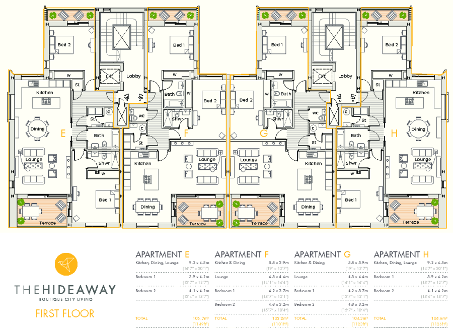 The Hideaway - Floorplan - First Floor.pdf