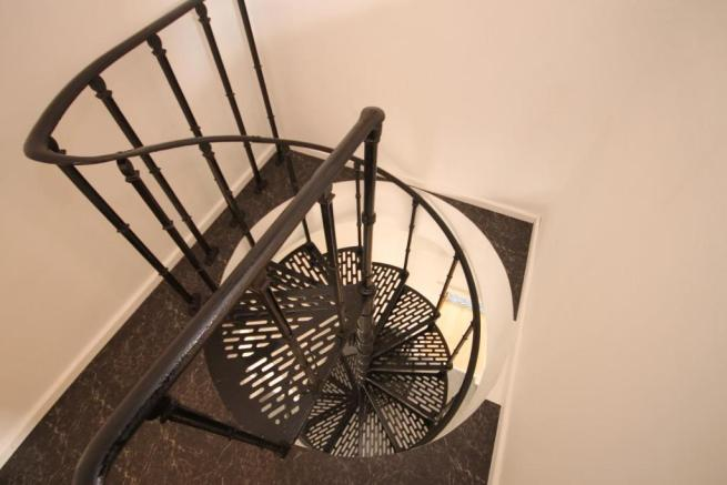 SPIRAL STAIRS TO BEDROOM 6
