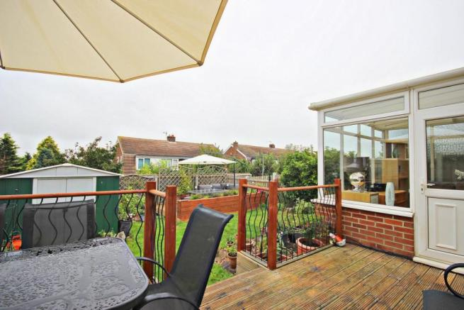 Well Sized Rear Garden and Patio Area