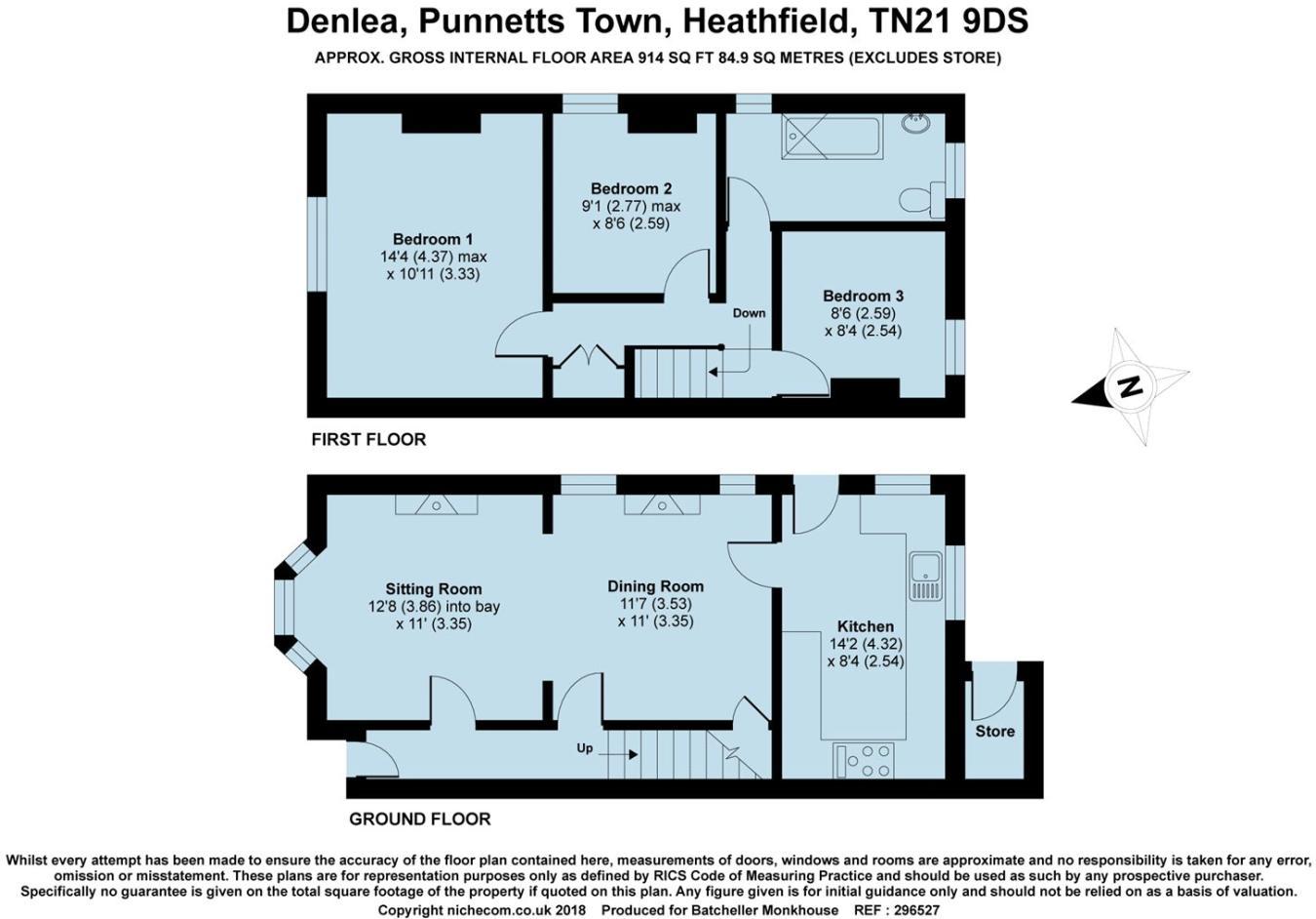 3 bedroom semi-detached house for sale in Punnetts Town, Heathfield ...