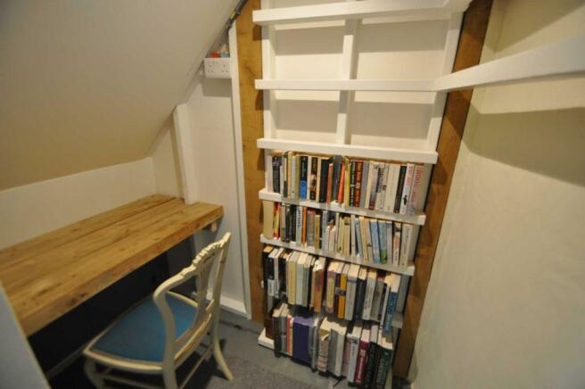 Understairs study area