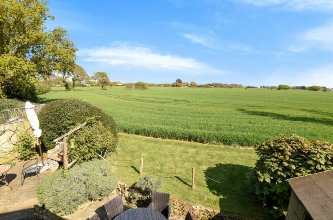 view across fields n