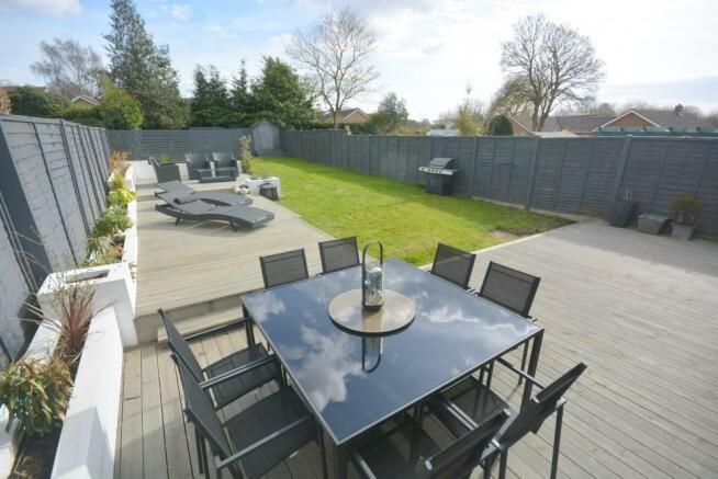 Decking area and garden