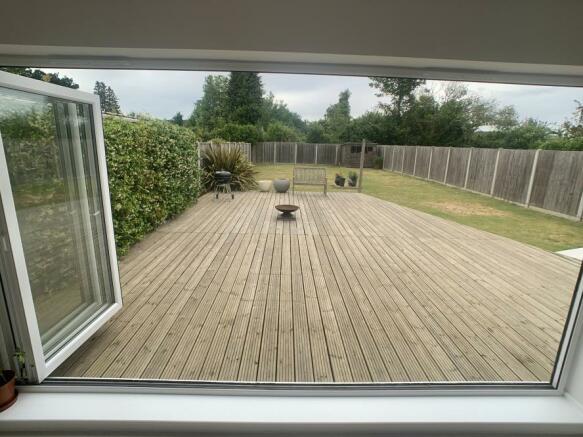 View from bi fold doors
