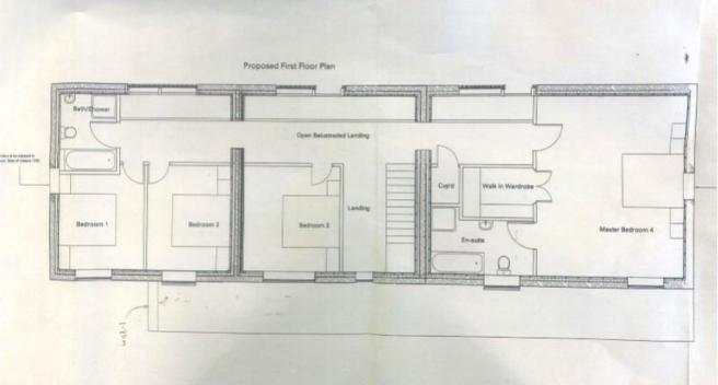4 bed first floor drawing